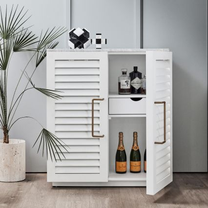 Miami Bar Cabinet with Marble Top