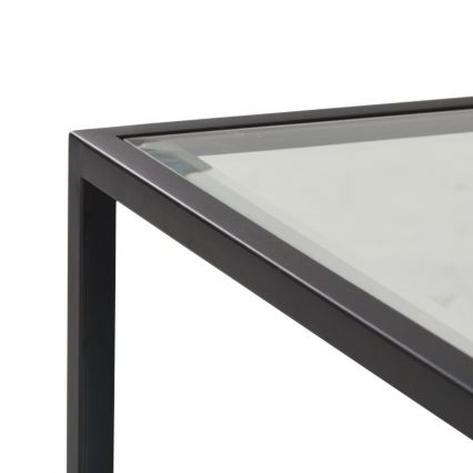 Arden Mirrored Coffee Table with Glass Top