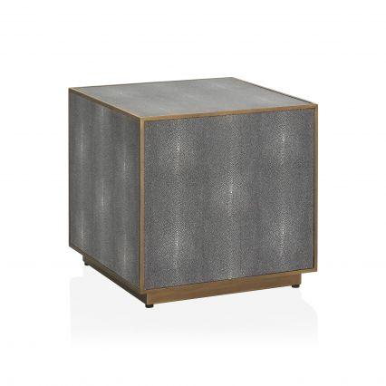 Barolo Shagreen Block Side Table