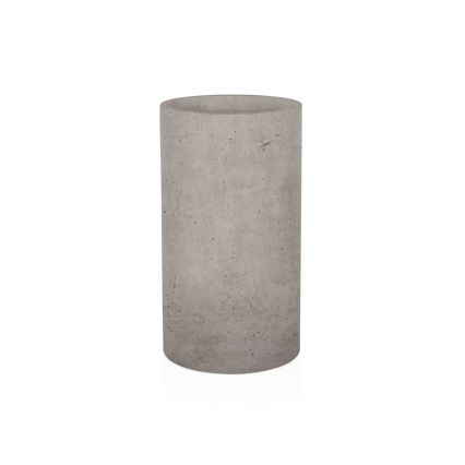Bruno Cylinder Planter - Grey - Tall