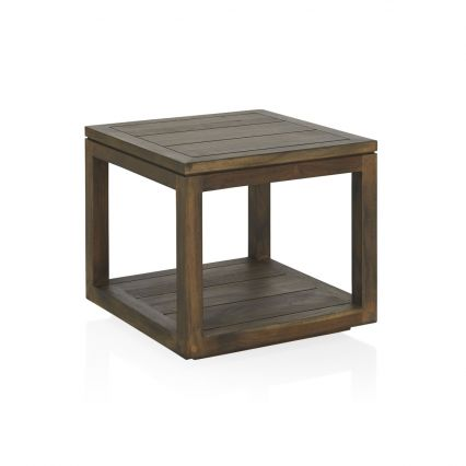 Como Outdoor Square Side Table - old grey