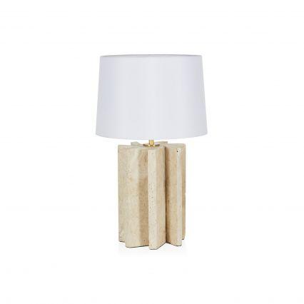 Diaz Travertine Table Lamp