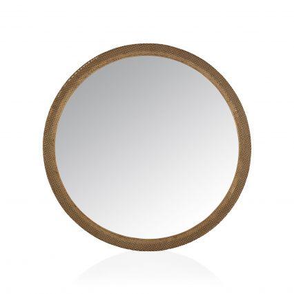 Farlen Round Metal Mirror