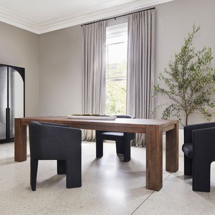 Block Timber Dining Table