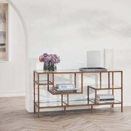 Arden Mirrored Low Console