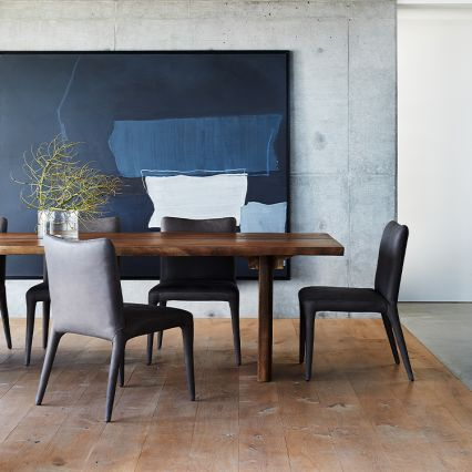 The Cara Leather Dining Chair