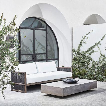 Monaco Rectangle Concrete Coffee Table